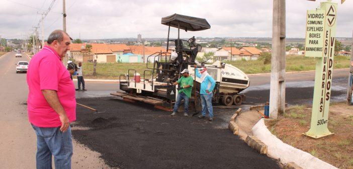 Seminfra dá início a obras de recapeamento asfáltico no município de Paragominas